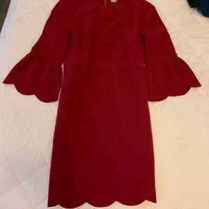 NWOT Lauren James Scalloped Red Dress